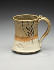 Wheel Thrown Mug w/brushed lead design