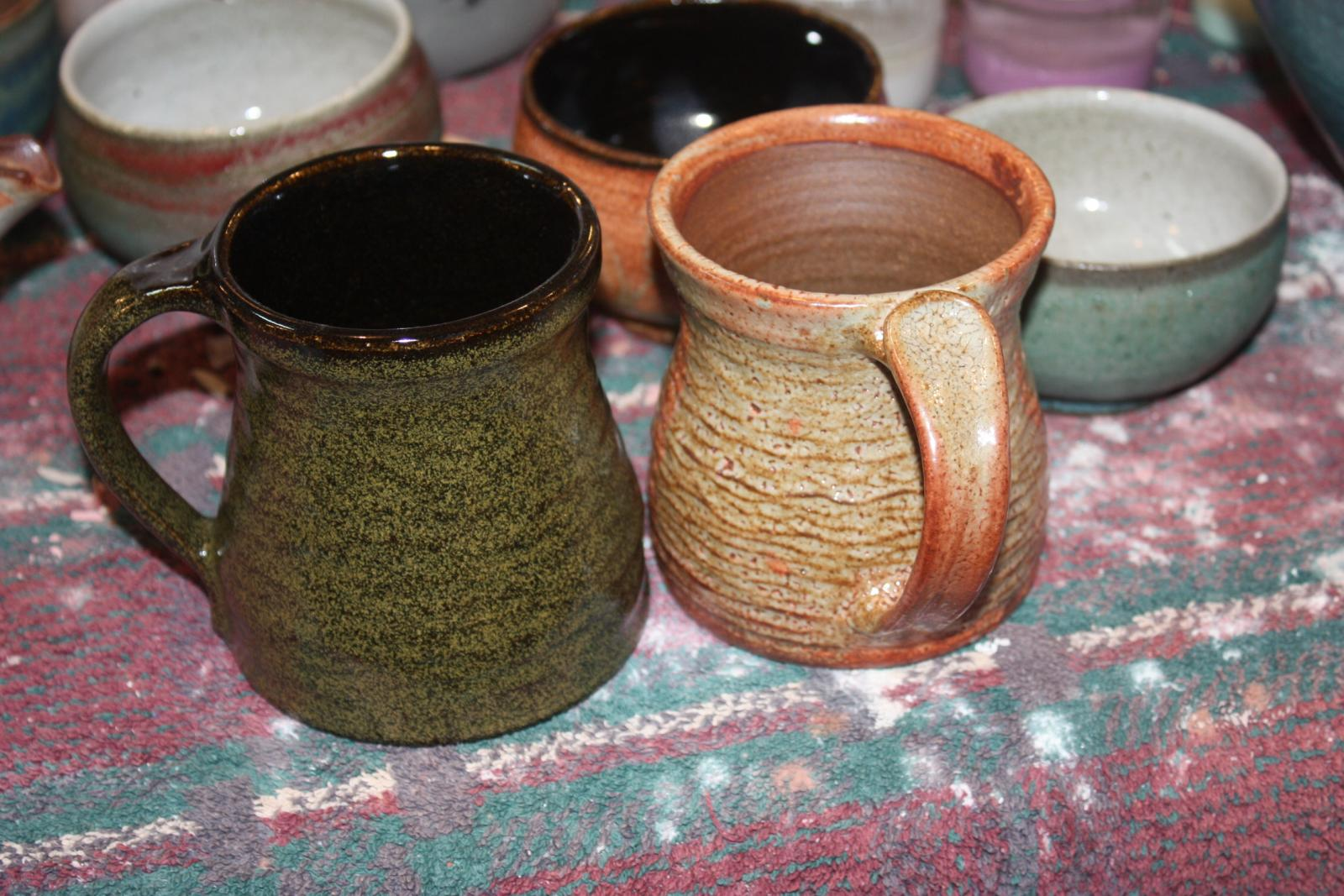 cups and tea bowls from Sept firing