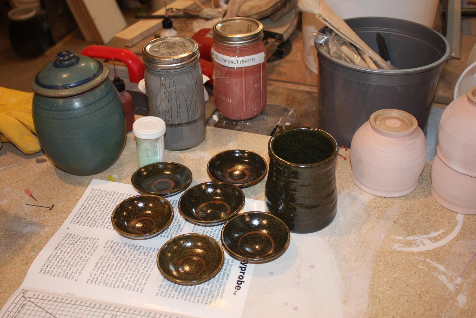 sake bowls and others from first fire