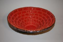 Large Red and Black Bowl