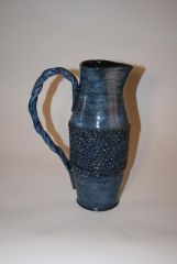 Large Blue and Black Pitcher