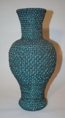 Large Black and Green Vase