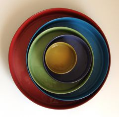 5 nesting bowls with lids
