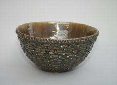 Green and Brown Vessel Sink