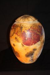 16 inch Lidded Ferric Chloride / Sagger fired pot