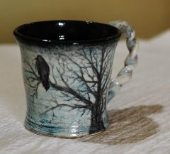 Bird on Blue Cup.JPG