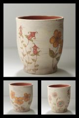 ceramic flowers tea glass.jpg