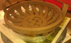 hand built round basket