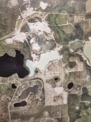 Aerial photo of Edgar mining