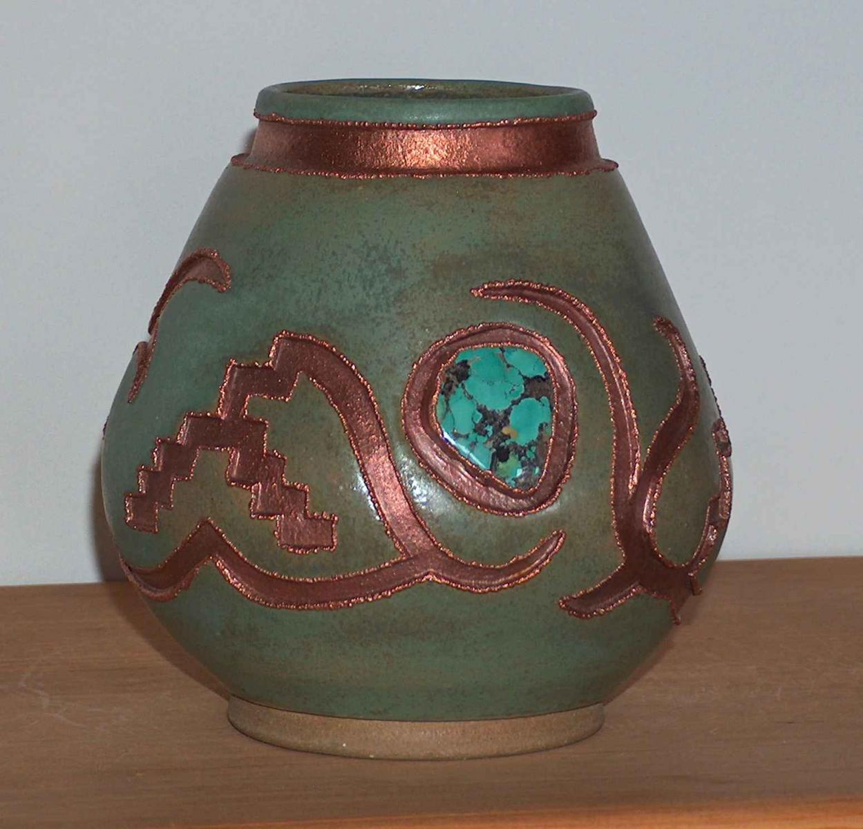 another turquoise pot