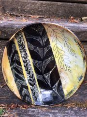 sgraffito and mishma platter