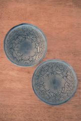 Bowls with layered glazes