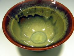 Small Bowl, Waterfall Brown and Cream Rust, ^6