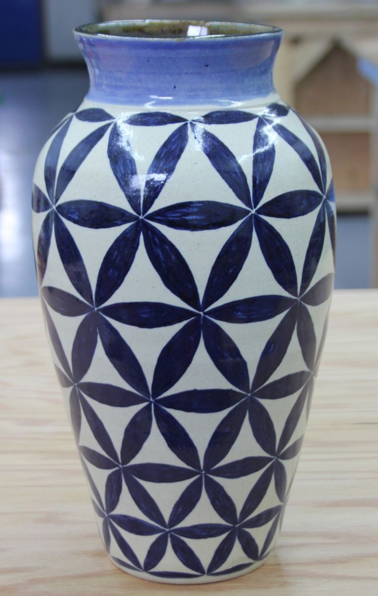 9 Point Flower of Life vase
