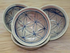 Pink-Cobalt Flower of Life bowls