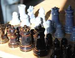 Chess Set #3 in the sun