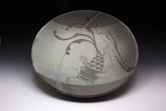 Large Serving Bowl with Koi Fish