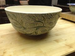 Large bowl with plant design