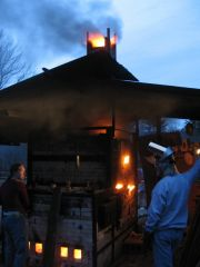 Crossdraft Wood/Gas Kiln New Hampshire Potters Guild Workshop