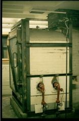 Propane Fired Downdraft Gas Kiln with Hinged Door  Silvermine Art School, CT