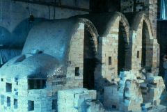 Three Chamber Wood Fired Noborigama constructed at Mass College of Art (in Boston) in 1976