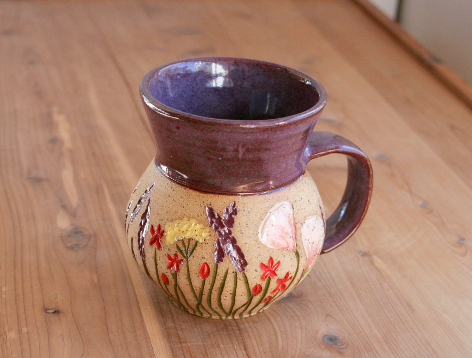 Wildflower mug in smoky amethyst