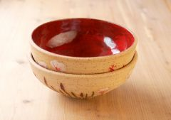Wildflower bowl, red