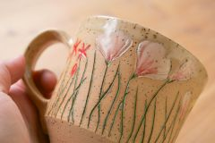 Contemporary wildflower mug, detail