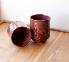 Plum Carved Mountain Tumblers