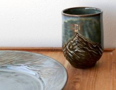 Mountain Tumbler and Eucalyptus Platter