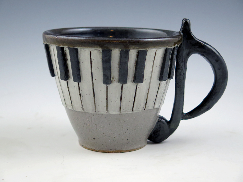 Keyboard Mug - Note Handle