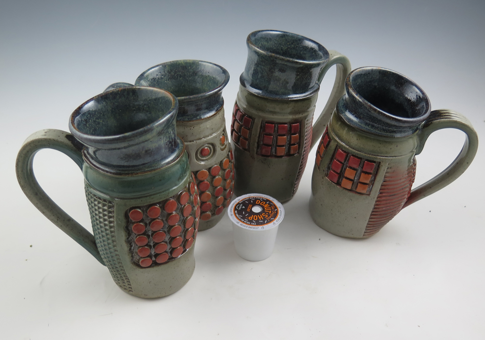 Handbuilt (Mostly) Mugs