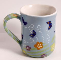 Large Butterflies and Blooms Mug