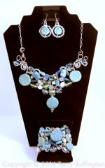 3 piece Turquoise Dangle Jewelry Set