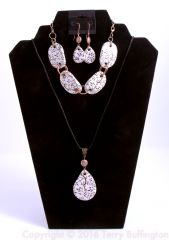 3 piece Vine Ceramic Jewelry Set
