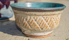 Turquoise and Shino Bowl