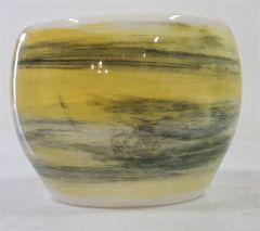 Black and yellow wash bowl