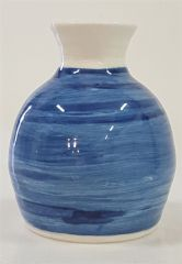 Cobalt washed vase