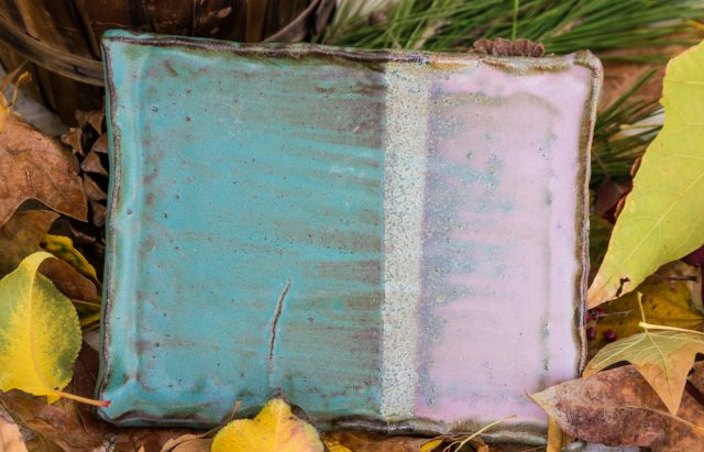 Lynns Turquoise and Gary's Green Mat Serving Board