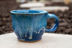 Blue Smoke Latte Mug