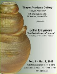 John Baymore - Thayer Gallery Solo Exhibition - Feb. 2017