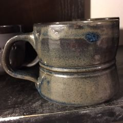 Cassius Mug with Blue Hare's Fur