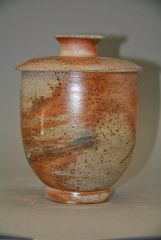 covered Jar soda fired