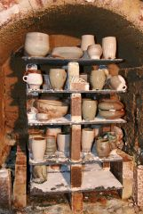 Sunday- opening the kiln