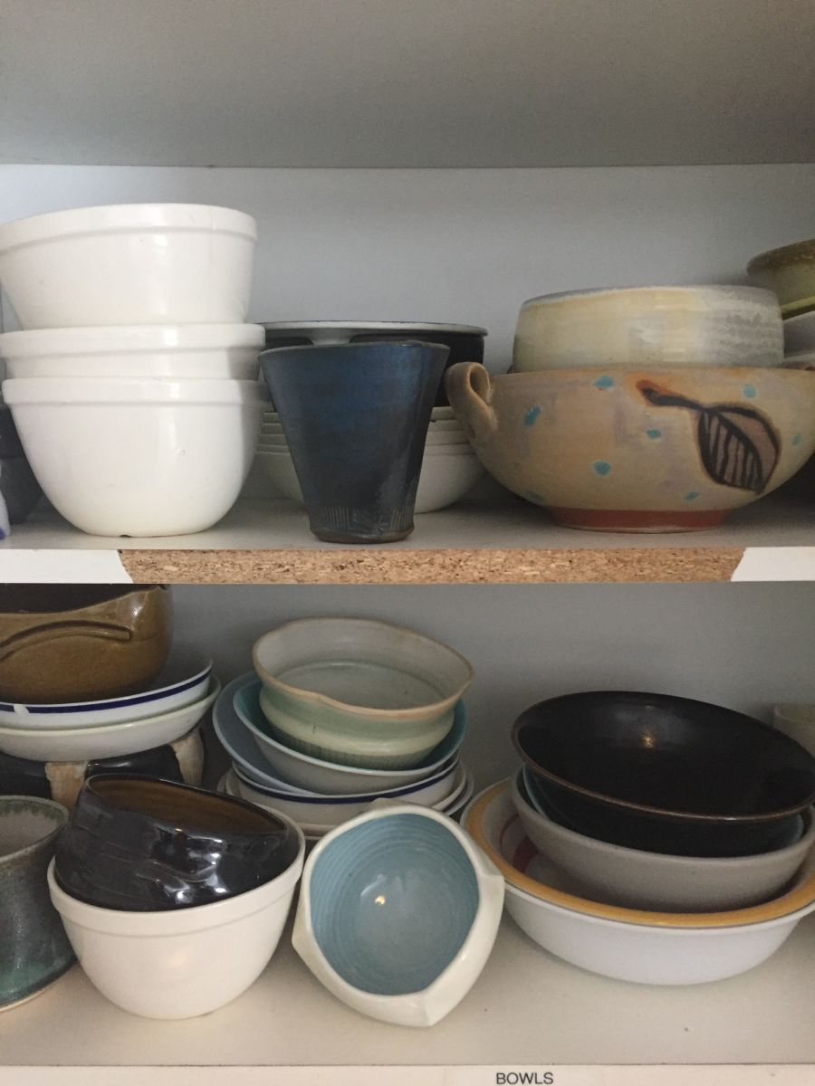 This is not a cupboard full of dishes, it's an art show!