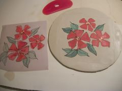 Kim K Red flower prints 004