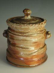 American Shino Glaze Mizusashi (water jar for Japanese Tea Ceremony)