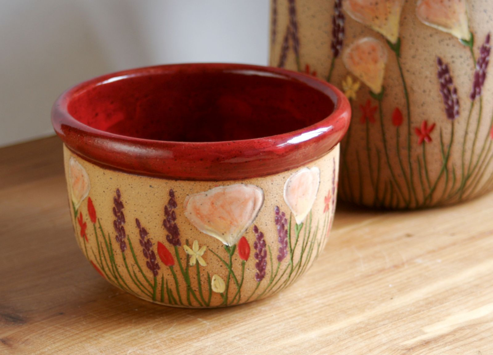 Wildflower Bowl in Red