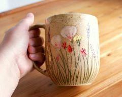 California Wildflowers mug, 24 oz. for serious coffee drinkers only