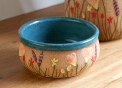 Wildflower Bowl in Teal